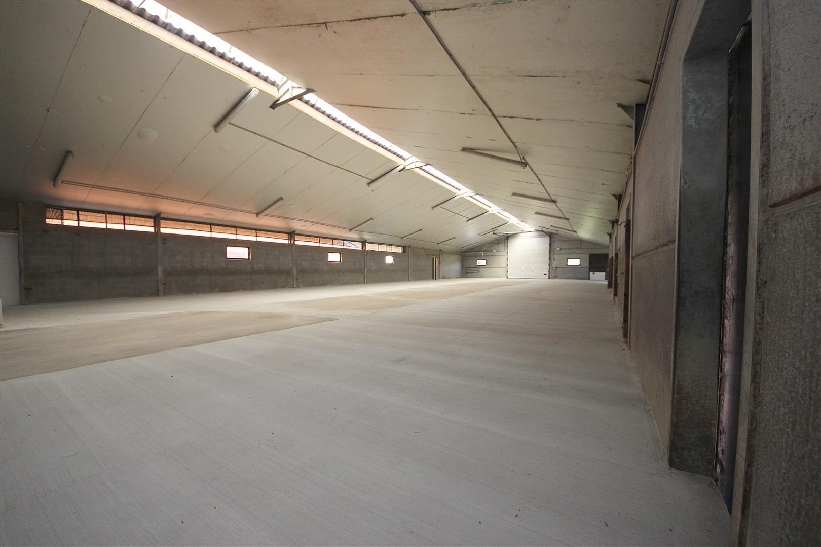 Overdekte opslagplaats/ loods/ magazijn van 400m² op gunstige ligging te Nazareth!