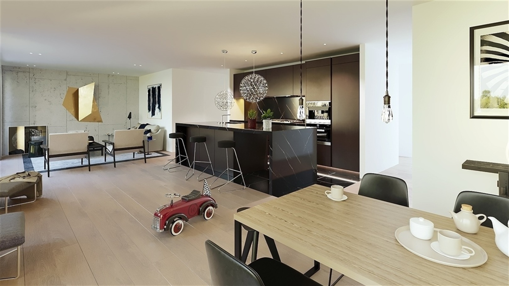 Lichtrijk 3-slaapkamerappartement met 2 terrassen
